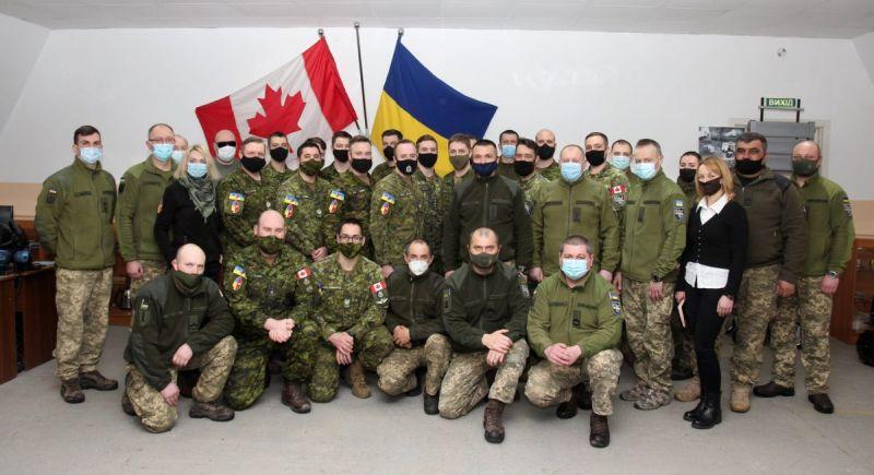 Чергову ротацію канадських саперів завершено в Україні (фото)